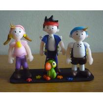 Centro De Torta Pirata Jake Y Amigos Porcelana Fría