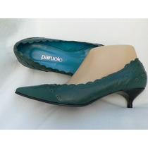 Zapato Paruolo Cuero Stiletto 37 Nuevo Fortu13