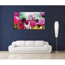 Flores En Tela Canvas Bastidor De 160x90 Cm Exelente Colores