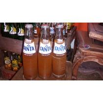 Botella Antigua De Fanta Naranja De 284 Cm3 Llena Excelente.
