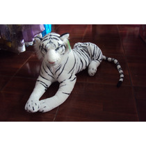 Tigre Blanco Peluche Gigante - Grande