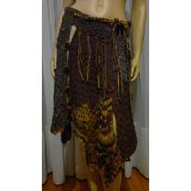 Pollera Crochet Evasé Tejido Artesanal Diseños Exclusivos