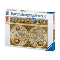 Rompecabezas Ravensburger 3000 Piezas Mapamundi Antigüedad