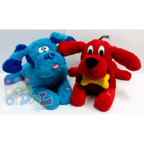 2 Peluches Perro Tv Blues Clues Y Clifford Promo Grande 50cm