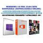 Windows 10 Pro + Office 2013 + Adobe Suite Cs6 (5 Dvds)
