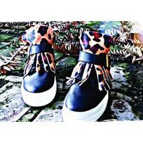 Zapatillas Botitas Cuero Nuevas