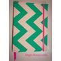 Cuaderno Artesanal De Tela Liso 50 Hojas 15,5x21cm Zig Zag