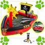 Pileta Pelotero Inflable Barco Pirata Con Espadas + Inflador