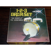 Antigua Bateria 1-2-3 Drum Set Nomura Japon Nueva En Caja !