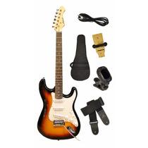 Guitarra Eléctrica Aria Pro 2 - Stg-003 C/ Funda, Soporte +