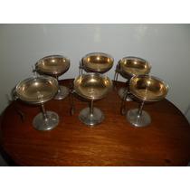 Copas Para Helado,bronce Y Cristal