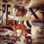 Animales Felpa Decoración - Vintage - Ciervo