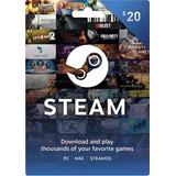 Steam Wallet Tarjeta 20 Us$ | Psntech
