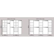 Modulo Interior De Placard 3,50mt Y A Med 6 Colores A Elecc!