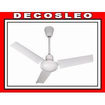 Ventilador De Techo De 3 Aspas Metalico De 1,44cm * Decosleo