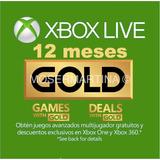 Xbox Live Gold 12 Meses Con Entrega Inmediata - Hot Sale
