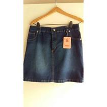 Polleras Elastizadas Jean Azul Oscur Localizado T 56 $ 450