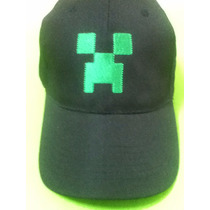 Oferta! Gorra Minecraft Creeper Negra - Bordado Verde Unica