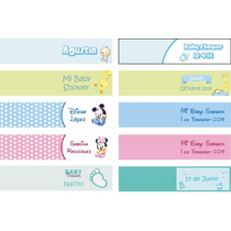 30 Tarjetitas Para Souvenirs De 4,5 X 2 Cm. - Baby Shower
