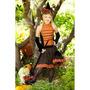 Disfraz De Lujo Bruja Naranja Excelente Calidad Nena 12-14