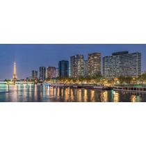 Cuadro Torre Eiffel En Tela Canvas Con Bastidor 125x50