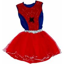 Disfraz Spider Girl Mujer Araña Artesanal Talle 3 / 4 Años