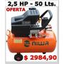 Compresor Aire Niwa 2,5 Hp- 50 Litros- De Alta Recuperación