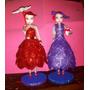 Muñecas Vestidas En Goma Eva Ideal Para Cumpleaños