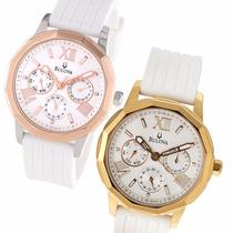Reloj Bulova 98n101 97n108 Multifuncion Acero Rose Malla