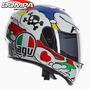 Casco Agv K3 Sv Comic Integral Doble Visor Moto Pista Calle