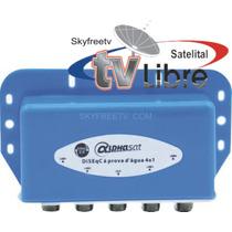 Diseqc 4x1 Antilluvia Fta In Box Para America Skyfreetv