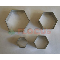 Cortante Molde Hexagono X 4 Flogus Porcelana Galletitas Masa