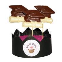 Chupetines De Chocolate Birrete Diploma Egresados Graduacion
