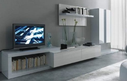 Mueble modular moderno lcd living progetto mobili for Muebles diseno living