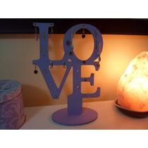 Porta Aros Love O Símbolo De La Paz, Color Lila O Rosa