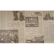 Clipping 1946 Cincuentenario Belgrano Athletic Club 3pg/6fot