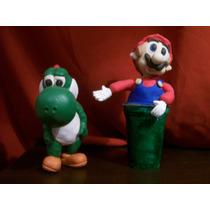 Mario Bross Y Yoshi En Porcelana Fria