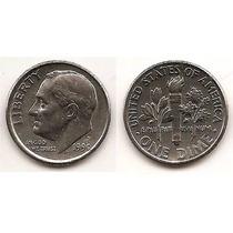 Moneda Estados Unidos De One 1 Dime 10 Centavos Año1990 P