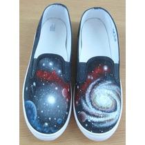 Zapatillas Panchas Pintadas Personalizadas Talle 38 Cosmos
