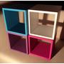 Cubos 40x40x30 Biblioteca Estantes Artesanales Q-vox Oferta!