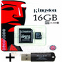 Memoria Kingston Microsd 16gb Celular Cam + Pendrive Regalo!