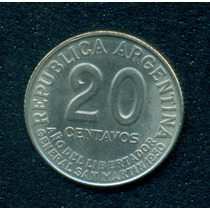 Moneda Argentina 1950 20 Centavos Cj# 228