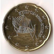 Chipre, 20 Euro Cents, 2008. Brillante Sin Circular