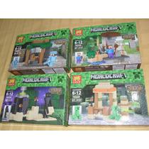 Escenarios Chicos Y Figuras Minecraft ! Lezi Blockes Bloques