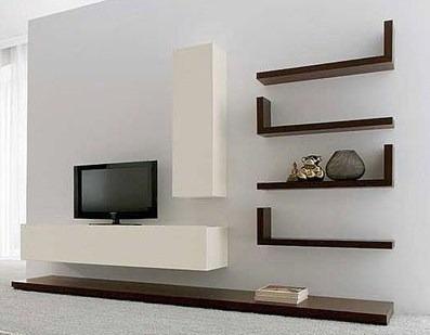 Mueble modular lcd living escritorio noteboo progetto for Muebles modulares living