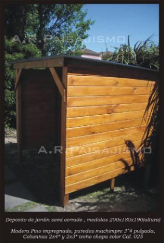 Cobertizo deposito de madera casilla guarda herramientas for Cobertizo de herramientas