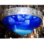 Historical*- Antigua Luminaria Schneider Cristal -baño Plata