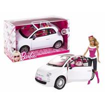 Muneca Barbie Con Su Fiat Muneca Incluida Original Mattel.