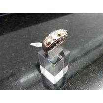 Anillo Modelo Pocket En Plata 925 Y Detalles En Oro 18 K.