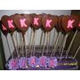 Chupetines De Chocolate Con Iniciales10 X
